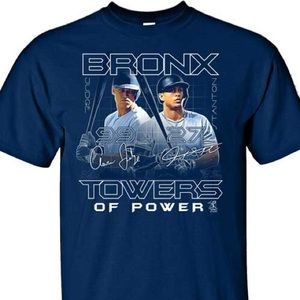 Bronx Towers Of Power Yankees Mens S/S Tee Shirt